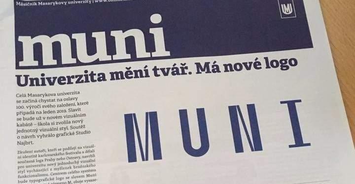 Změna loga Masarykovy univerzity je velkým krokem (autor: Lenka Čechová)