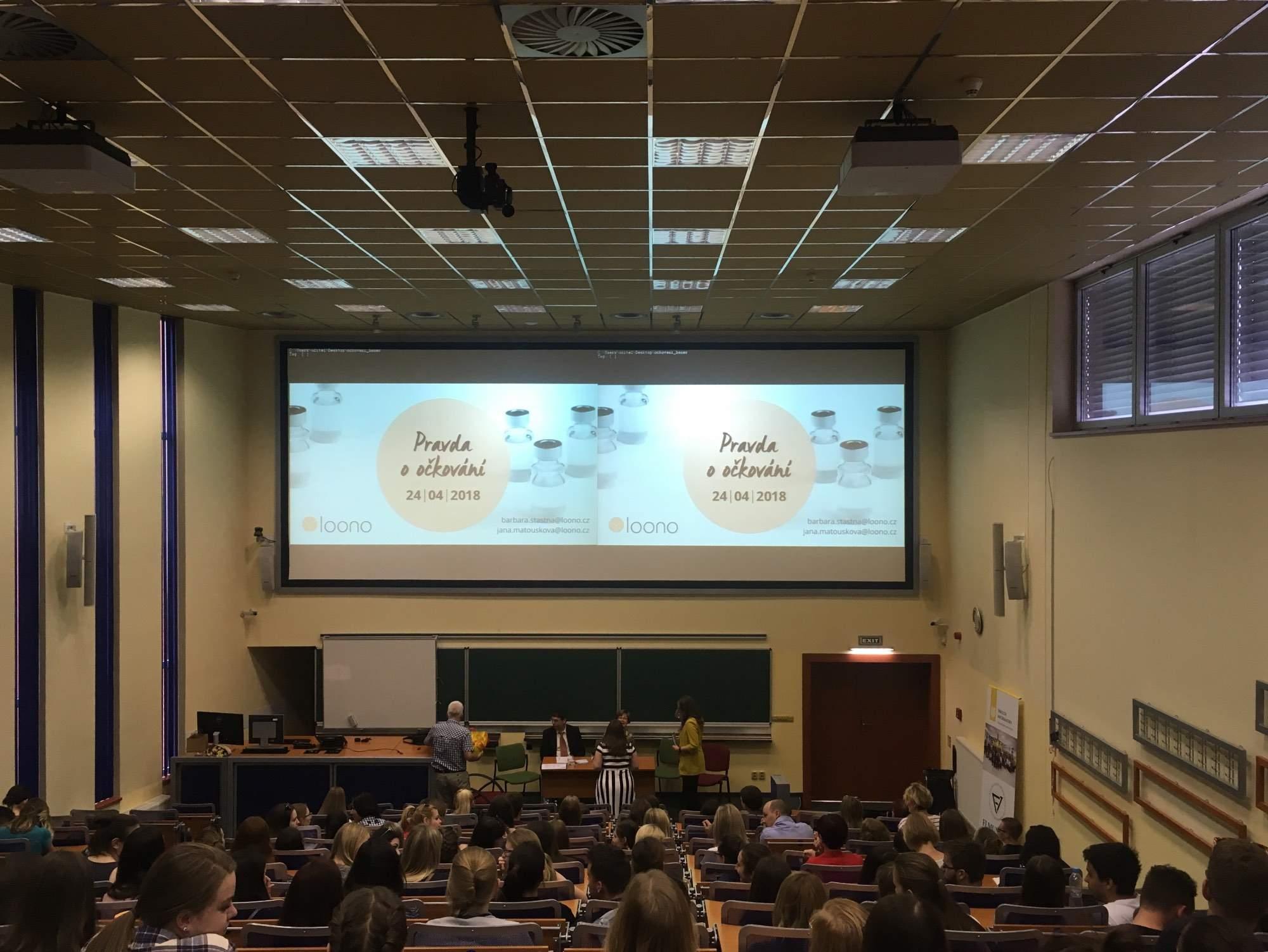 Debata Pravda o očkování v Brně, foto: Veronika Sodomová