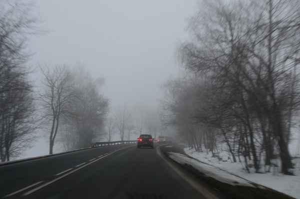 Foceno cestou domů - u Vimperku.