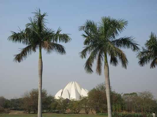 Lotus Temple Na východ od Nehru  je postaven tento chrám v podobě lotosového květu a je posledním ze sedmi hlavních chrámů Bahai postavených po celém světě. Dokončen byl v roce1986, je situován mezi svěží zeleň krajinářské zahrady.   Struktura je tvořena čistým bílým mramorem Architekt Furiburz Sabha si vybral lotus jako symbol společného hinduismu , buddhismu ,  Bhai TempleJainism a islám . Přívrženci jakékoli víry mohou svobodně navštívit chrám a modlit se nebo meditovat.   Kolem rozkvetlých okvětních lístků je devět bazénů, které se rozsvítí v přirozeném světle. Vypadá to velkolepě za soumraku, když je zaplaveno.