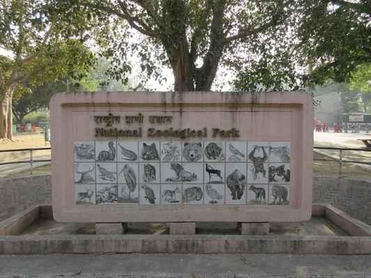 Vítejte v národní zoologické zahradě v New Delhi.