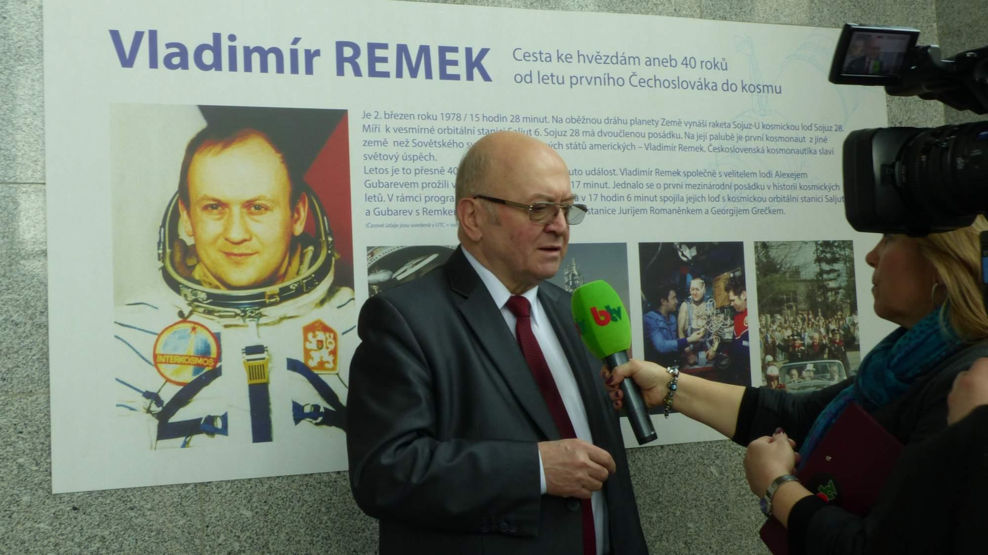 První československý kosmonaut Vladimír Remek, Foto: Dominika Glaserová