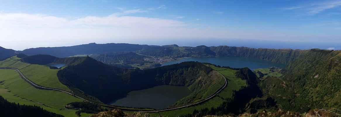 Lagoa Verde, Azul a de Santiago