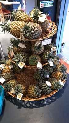 Ananasy na prodej všude možně.. cca 5e za kilo