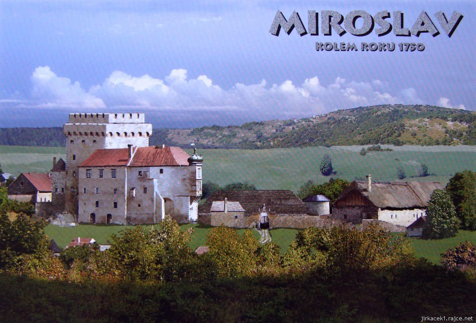 Podoba zámku Miroslav v roce 1750