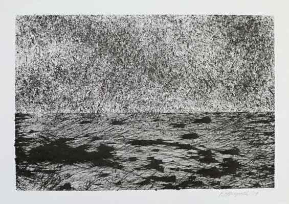 """1. Herynek Pavel z cyklu """"Ohlasy krajiny"""", kresba tuší, 25x35cm; 2019; 2 500 Kč"""