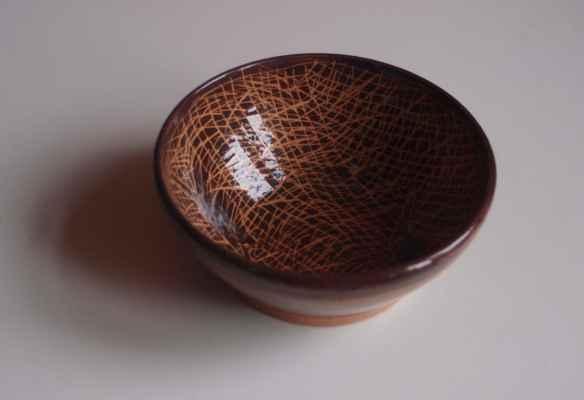 """2. Bébar Otto """"Miska"""",  glazovaná keramika, Ø=10cm,; 2017; 500 Kč"""