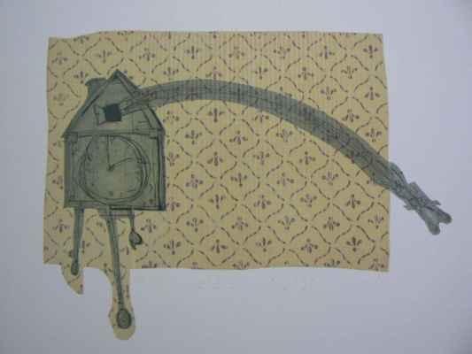 """26. Velíšek Martin  """"Kukočky"""", hlubotisk, 45,5x62,5cm; 2009; 1 200 Kč"""
