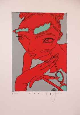"37. Jirků Boris ""Brylle"", autorský tisk, 31,5x22cm; 2014; 3 000 Kč"