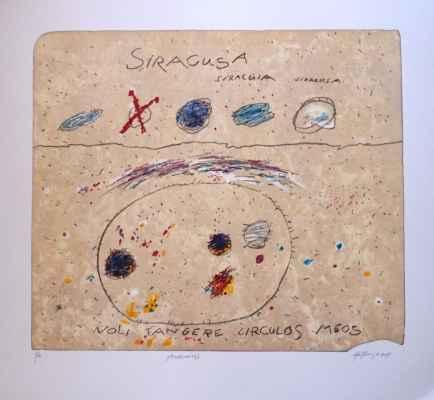 "48. Kanyza Jan ""Archimédés"", litografie, 62x72cm; 2015; 5 000 Kč"