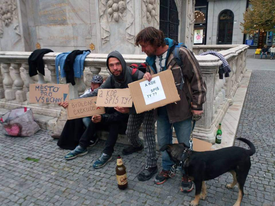 Homeless protested at Freedome Square.