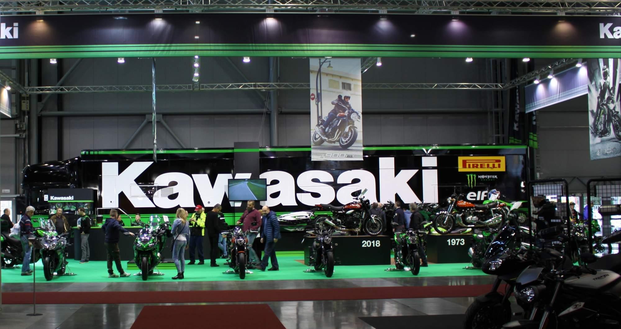 Stánek firmy Kawasaki. Foto: Kateřina Bečková