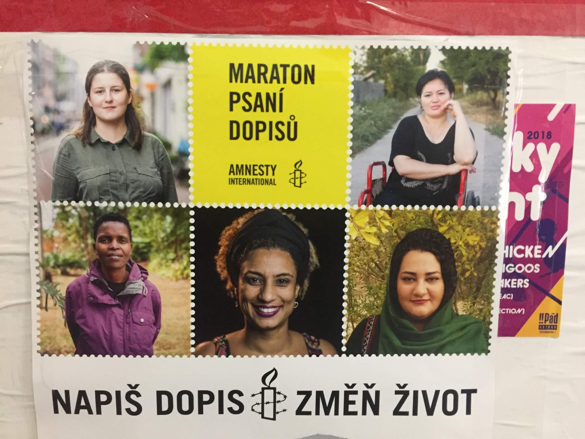 Ľudia mohli v rámci maratónu písať listy na viacerých miestach v Brne