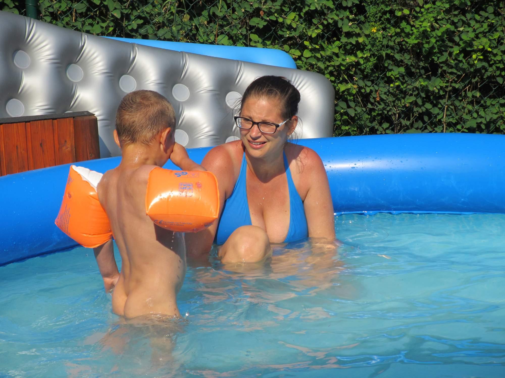 Pools with girls on boys, black thin teens