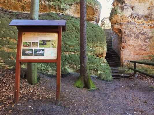 spodní část ralska je tvořena pískovcovými skalami, které na několika místech vytvořily pěkná skalní města - jako právě zde...