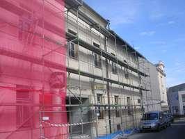 Duben 2018. Velká rekonstrukce budovy v které se nachází i restaurace BARON.