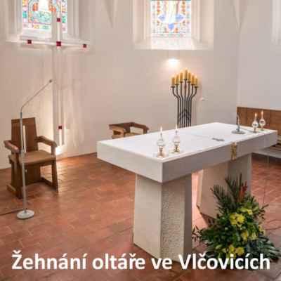 Žehnání oltáře ve Vlčovicích